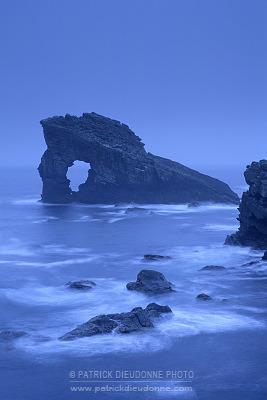 Gaada stack, arche naturelle, Shetland